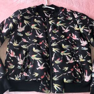 Colorful bird jacket